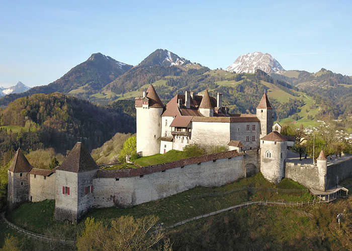 Fribourg Region - Gruyere (La Gruyère)  Thanks to its cheese, Gruyères (La Gruyère) is known far beyond the city an