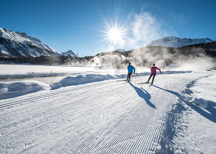 Hotels in Grisons - Cross-country skiing in Engadin  The Engadin is considered one of the cross-country skiing Meccas of