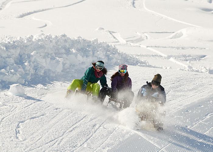 Hotels in Grisons - Sledging / tobogganing   There are almost 100 different toboggan runs in Graubünden - unbeliev