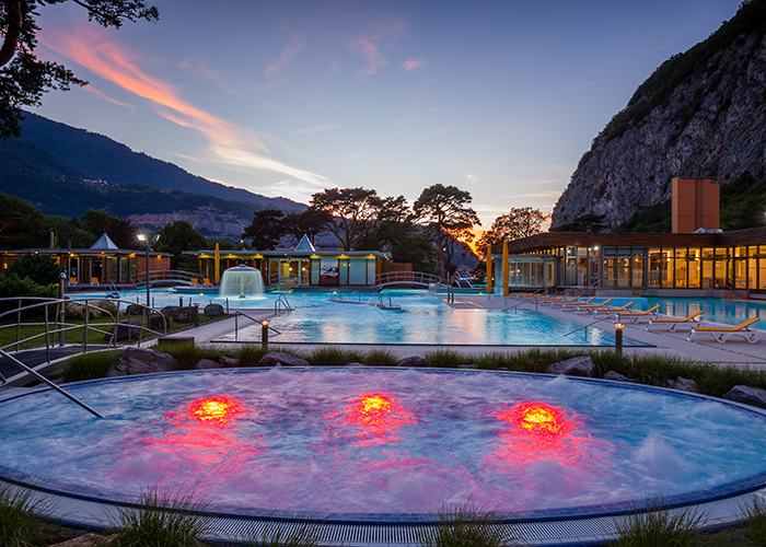 Region Genfersee - Switzerland's hottest thermal spring in Lavey-les-Bains  What could be better than relaxing in the w