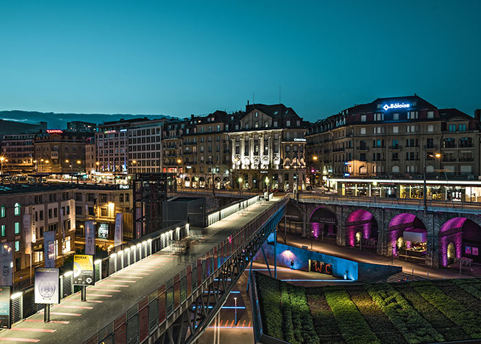 Hôtels dans la région du lac Léman - Lausanne  Lausanne ne dispose pas uniquement de la seule ligne de métro de Suisse, il s'agit éga