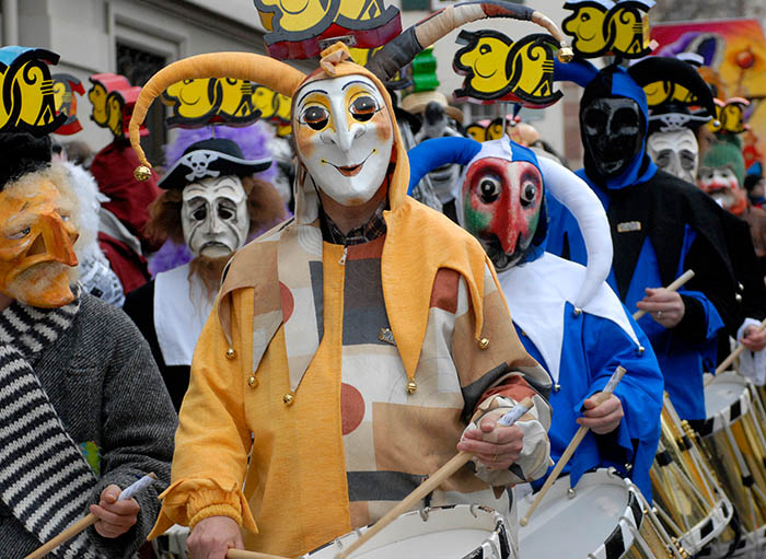 Hotels in Basel Region - Morgestraich at the Basel Fasnacht  In 2020, the