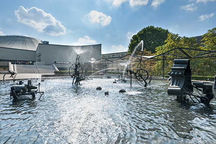 Hotels in Basel Region - Tinguely Fountain  The Tinguely Fountain is a comparatively young landmark of the city of Basel. It