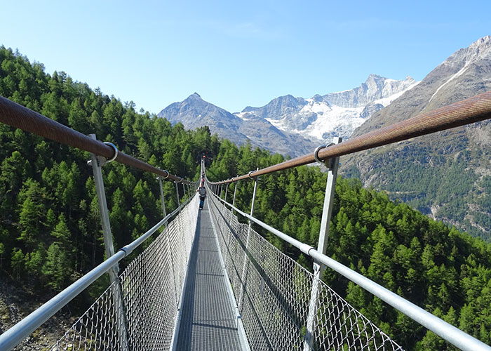 Hotels in Valais - The world's longest suspension bridge The district of Randa, located in the Matter Valley, is home