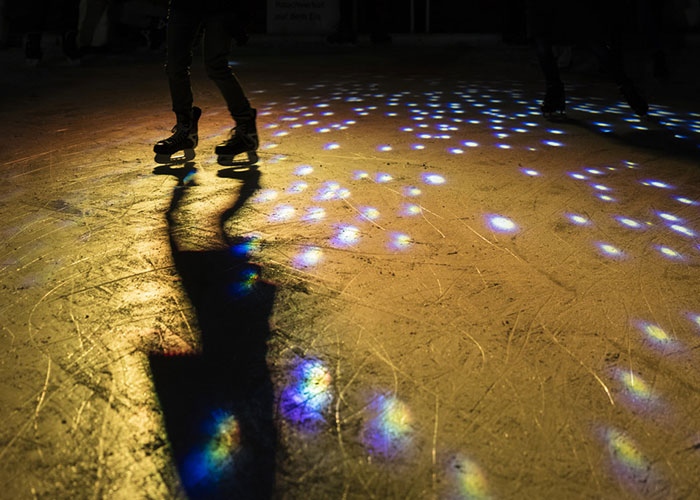 Zurich Region - Romantic atmosphere high above Zurich  Every winter, the Dolder artificial ice rink is transformed i