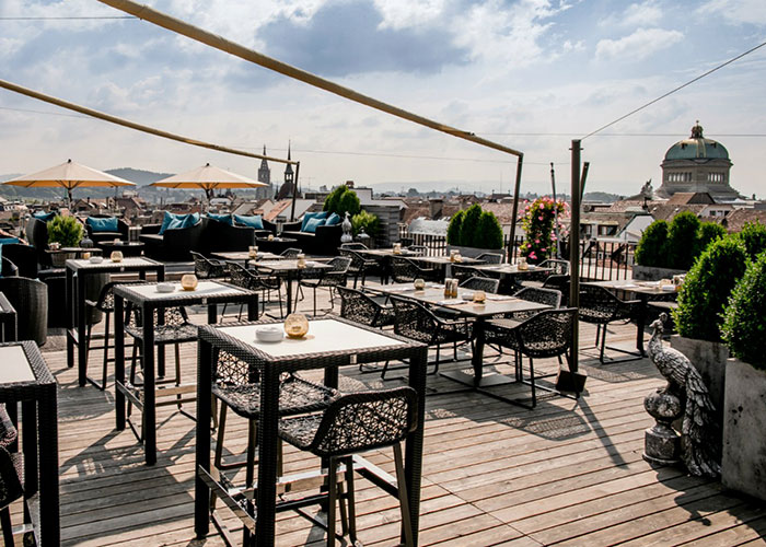 Hotels in Bern Region - Perhaps the most beautiful terrace in Bern  Right in the centre of Bern is one of the most beautiful
