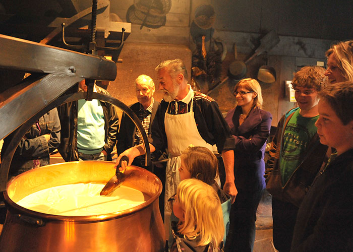 Hotels in Bern Region - Emmental show dairy  Find out and experience at first hand how one of the most famous Swiss cheeses