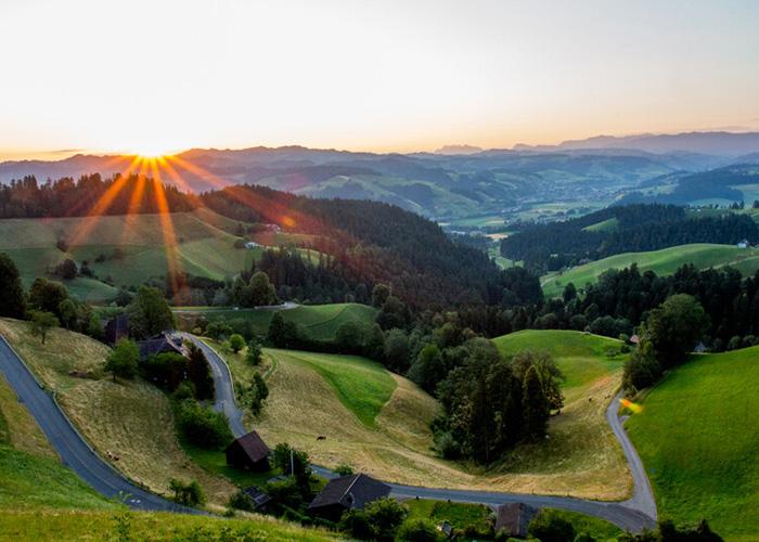 Bern Region - Langnau in the Emmental  The village of Langnau is located in the middle of the Emmental, a rural re